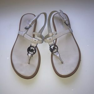 White Michael Kors Sandals